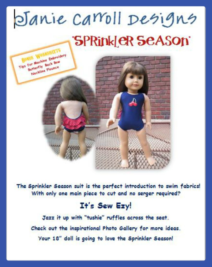 Sprinkler Season swimsuit pattern from Janie Carroll Designs