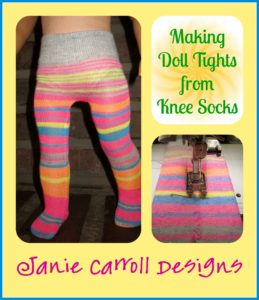 Free tutorial - make doll tights from sox